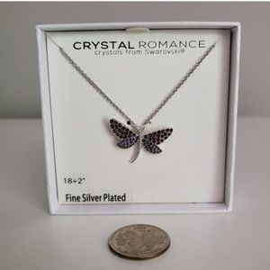 Swarovski crystals Dragonfly necklace NIB